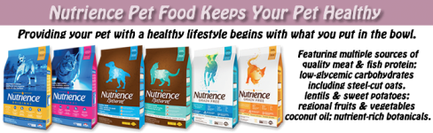 Nutrience Original, Naturals and Grain Free Dog and Cat Pet Food