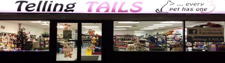Telling TAILS Pet Food Supplies Store Front
